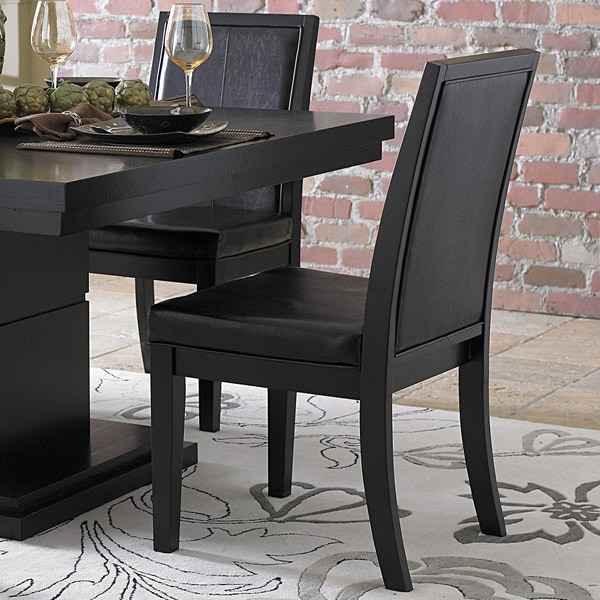 TRIBECCA HOME Weston Black Baseball Stitching Side Chairs