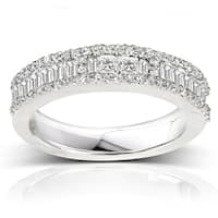 Annello by Kobelli 14k White Gold 3/5ct TDW Diamond Wedding Band (H-I, I2)