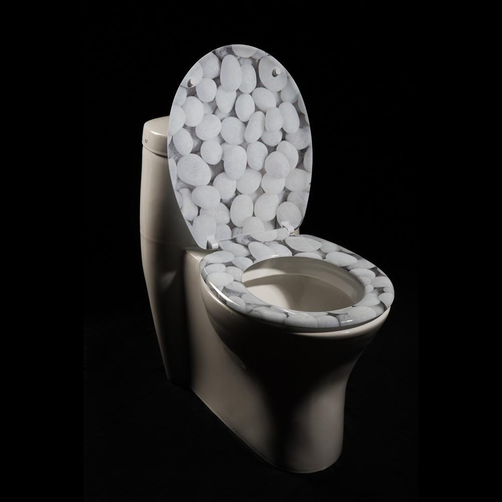 River Rock Designer Melamine Toilet Seat Cover 13109244