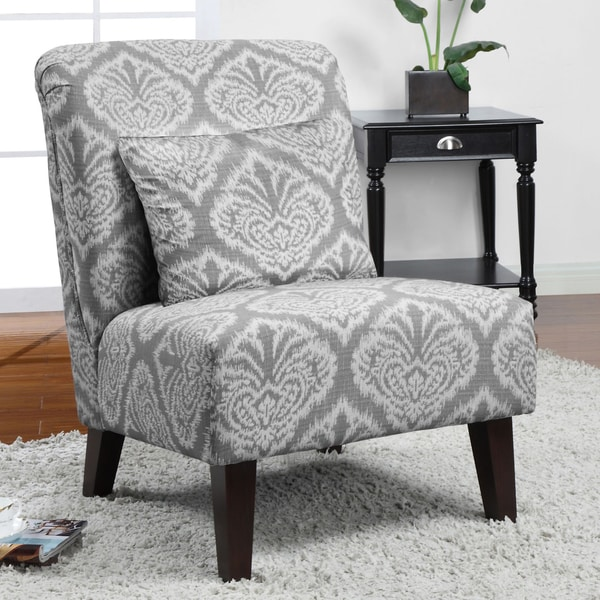 Anna Grey Ikat Accent Chair 14516740 Overstock Com
