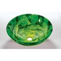 Green Glass Sink Bowl