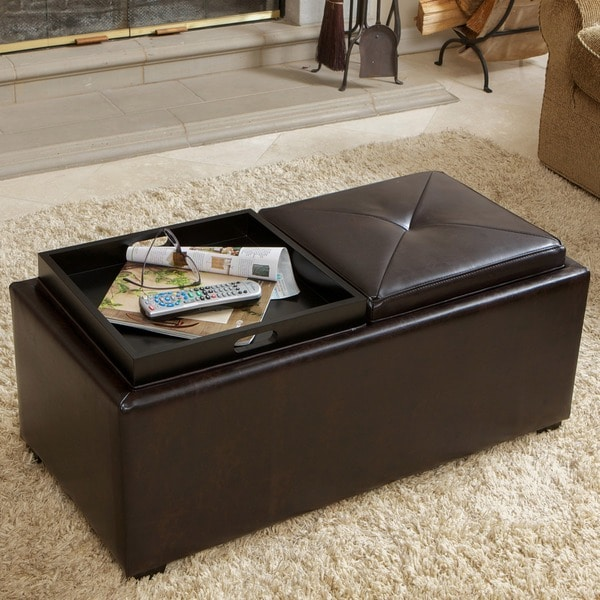 Christopher Knight Home Maxwell Brown Bonded Leather