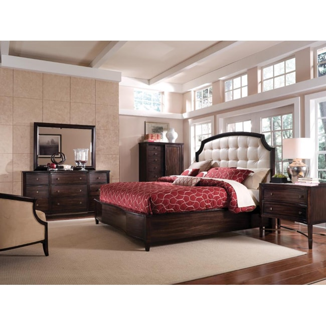 Intrigue Leather Panel King Bedroom Set (5 Pieces In Set