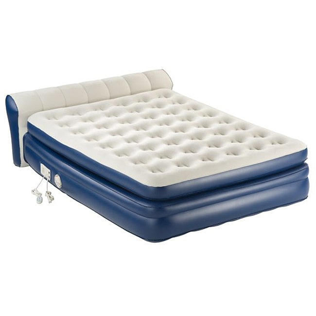 Aerobed Twin Mattress AeroBed Premiere Queen-size Bed with Headboard - 14534072 ...