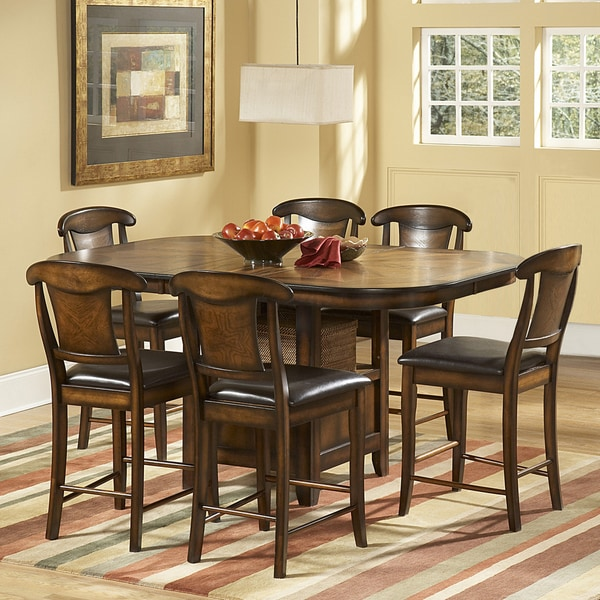 7 Piece Counter Height Dining Room Sets: TRIBECCA HOME Glenbrook 7 Piece Counter Height Dining Set