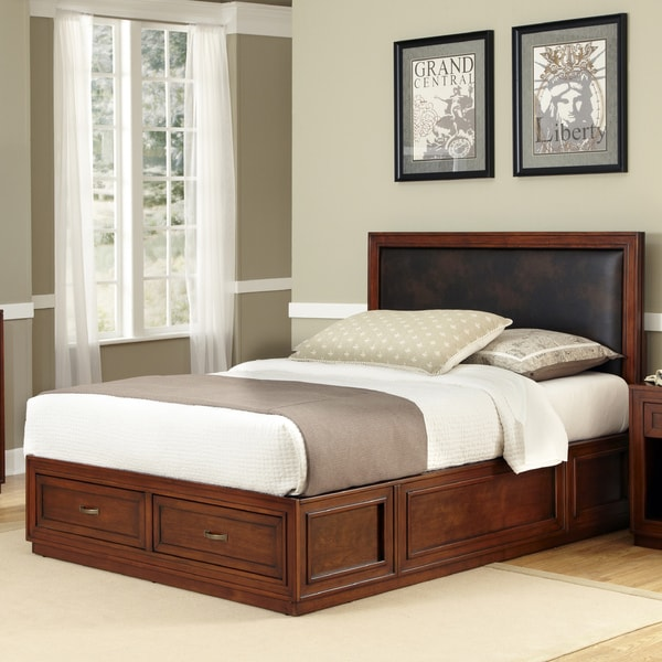 Home Styles Queen Size Platform Storage Bed 14602341