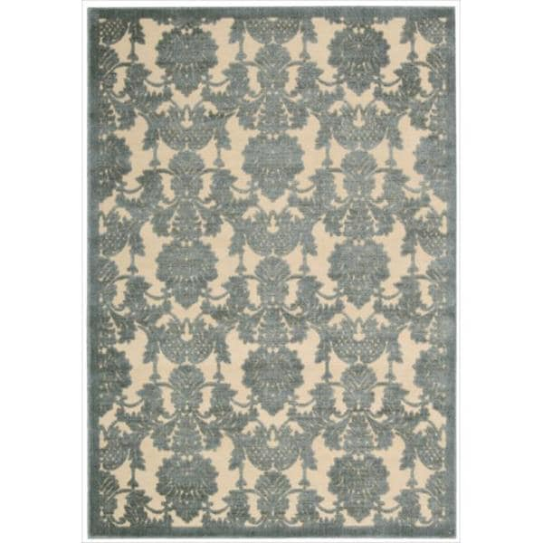 Nourison Graphic Illusions Damask Teal Rug (3'6 X 5'6
