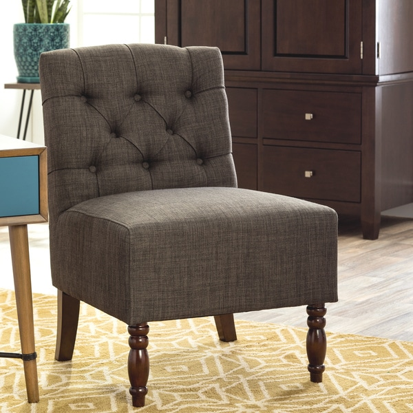 Lola Charcoal Grey Accent Chair 14605959 Overstock Com