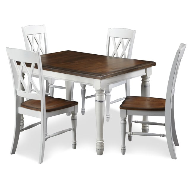 Monarch Rectangular Dining Table With Four Double X-back