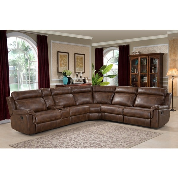Large 6 Piece Family Sectional With 3 Reclining Seats And