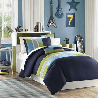 Mizone Switch 4 Piece Casual Stripe Comforter Set