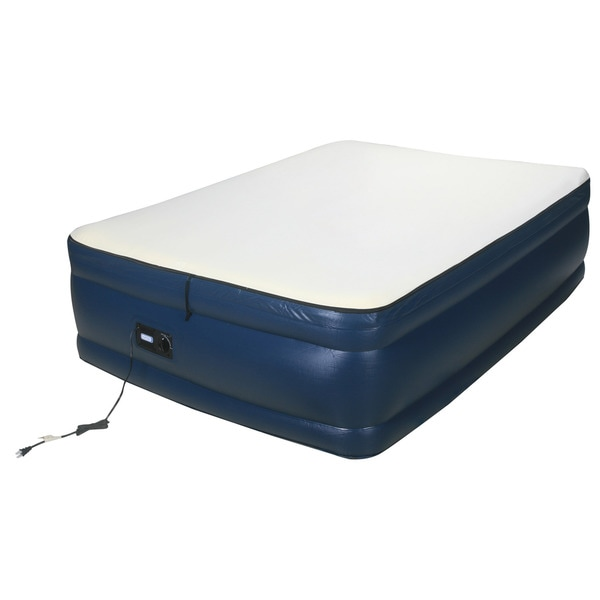 Airtek Raised Memory Foam Full Size Air Bed With Built In