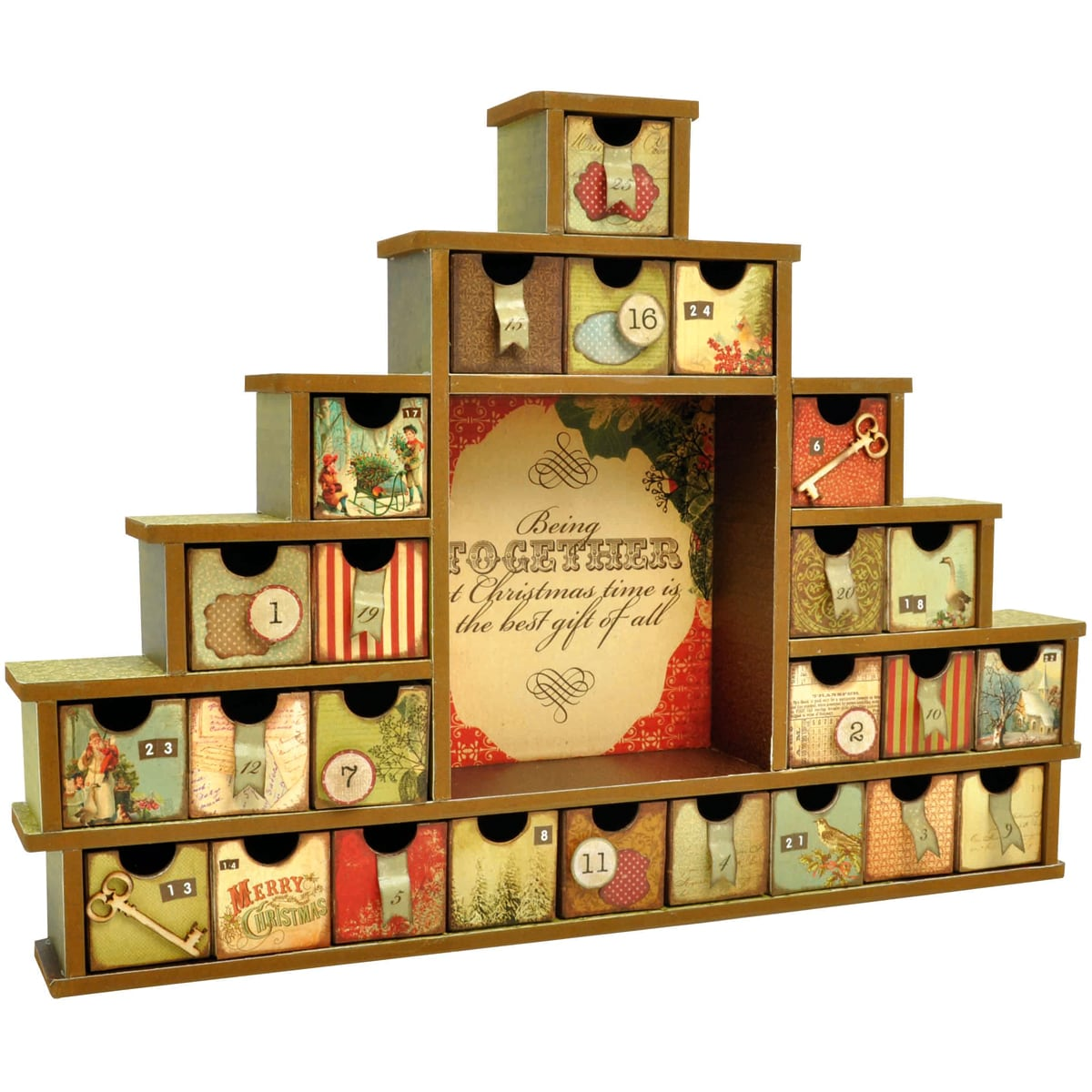 Beyond The Page MDF Shadow Box With Drawers Advent