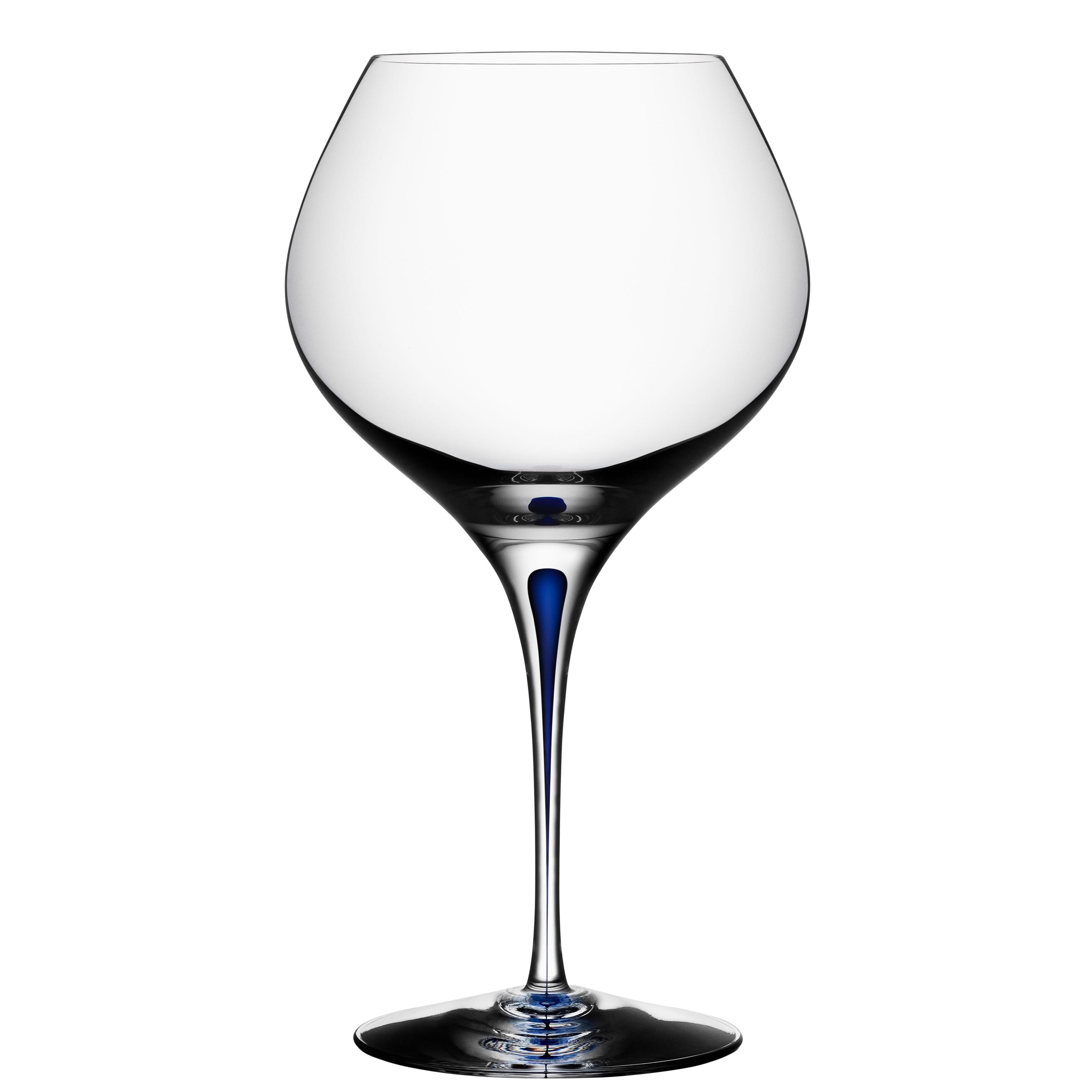 Orrefors Intermezzo Blue Wine Glass - 14646458 - Overstock.com Shopping - Great Deals on ...