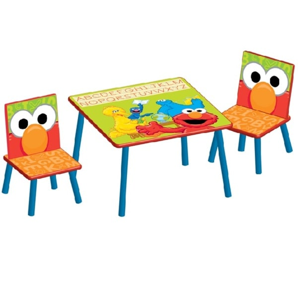 Sesame Street Table And Chair Set 14647998 Overstock