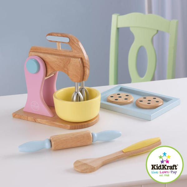 Kidkraft Pastel Cookie Baking Set With Rolling Pin And