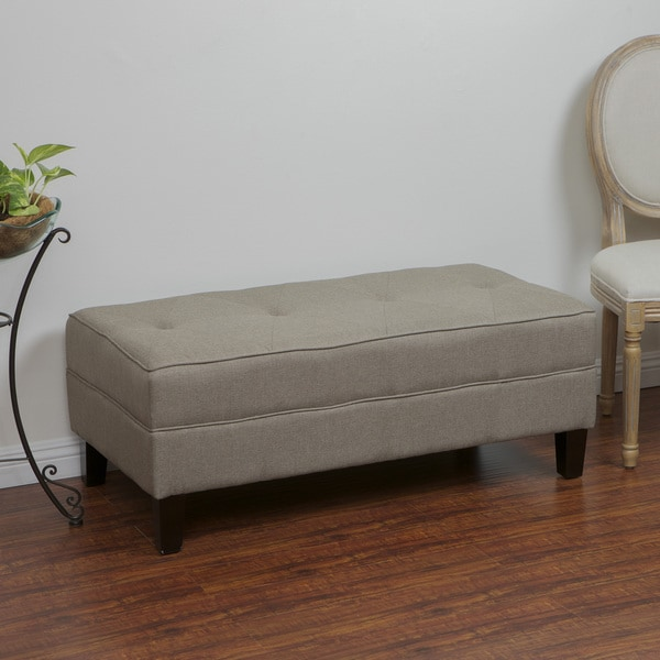 Christopher Knight Home Cheshire Light Brown Fabric Bench