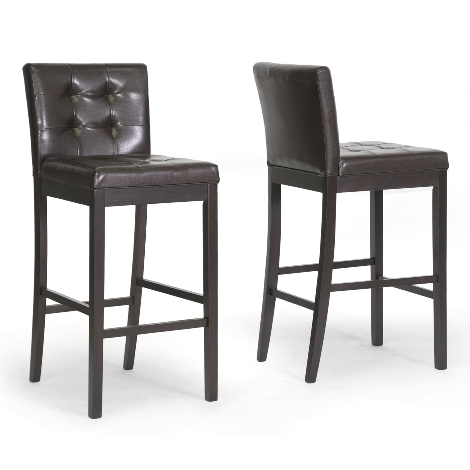 Tribecca Home Tufted Button Back Peat Microfiber Side: For Sale Baxton Studio Asher Modern Dining Chairs (Set Of 2