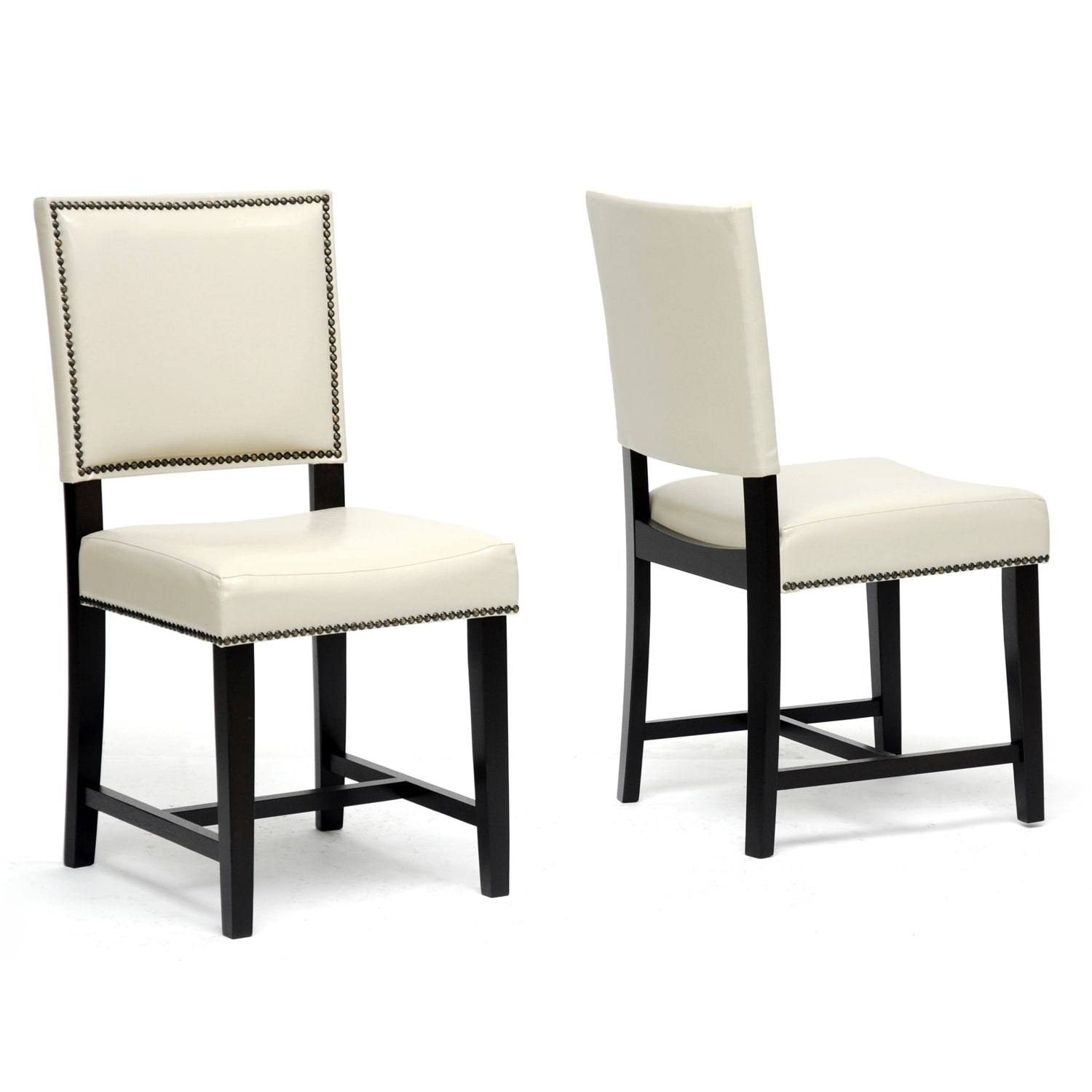 Best Dining Room Chairs: Baxton Studio Nottingham Cream Faux Leather Modern Dining