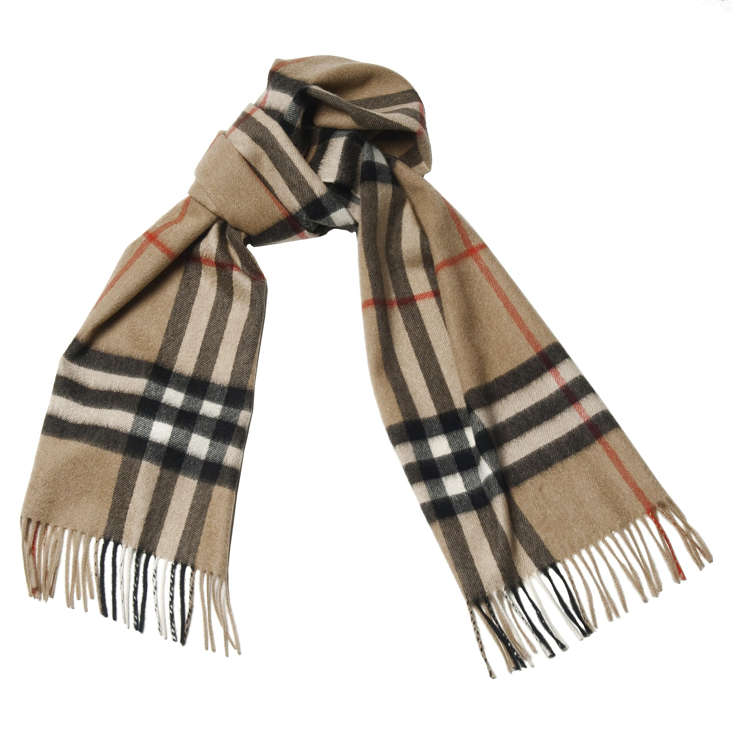 Burberry Plaid Camel Cashmere Scarf  JustCampus Burberry Scarves For Women