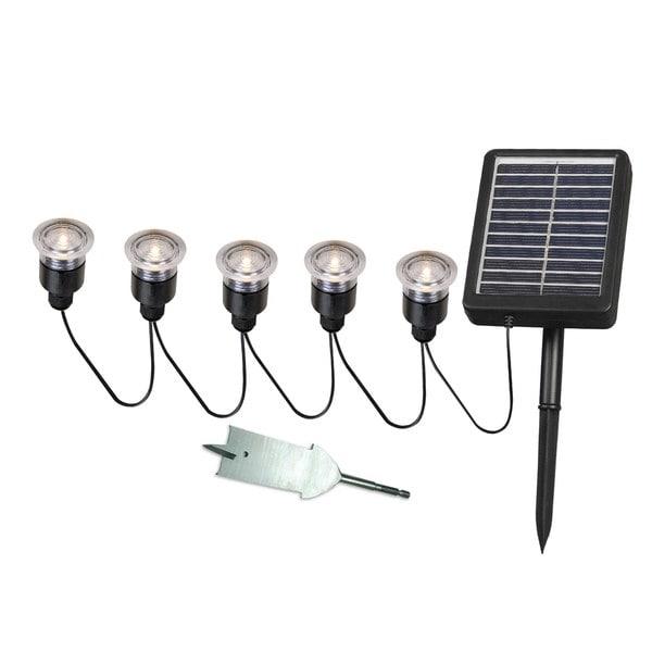 Solar Panel String Lights: Nova Solar Deck, Dock And Path Light 5-light String With