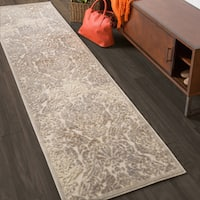 """Nourison Graphic Illusions Ivory Vintage Distressed Runner Rug - 2'3"""" x 8'"""
