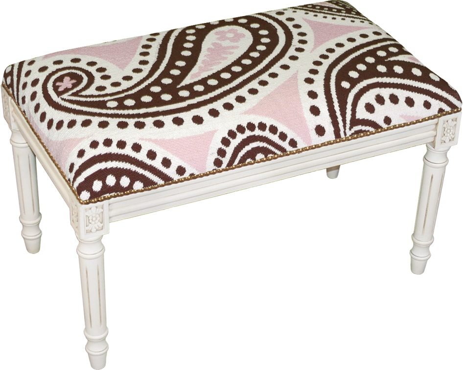 Black Toile Needlepoint Stool Prices Reviews Amp Deals