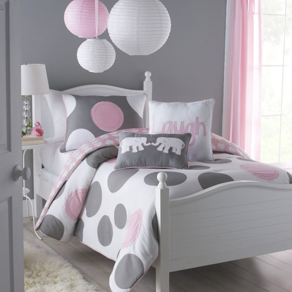 Vcny Big Believers Pink Parade 3 Piece Full Size Comforter