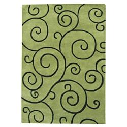 Alliyah Handmade Lime Green New Zealand Blend Wool Rug 8