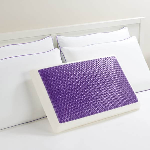 Comfort Memories Gel Purple Bubble Bed Pillow 14731840