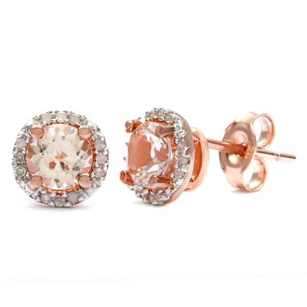 Morganite And Diamond Engagement Ring Rose Gold
