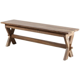 Unfinished Solid Parawood Trestle Bench 16453226