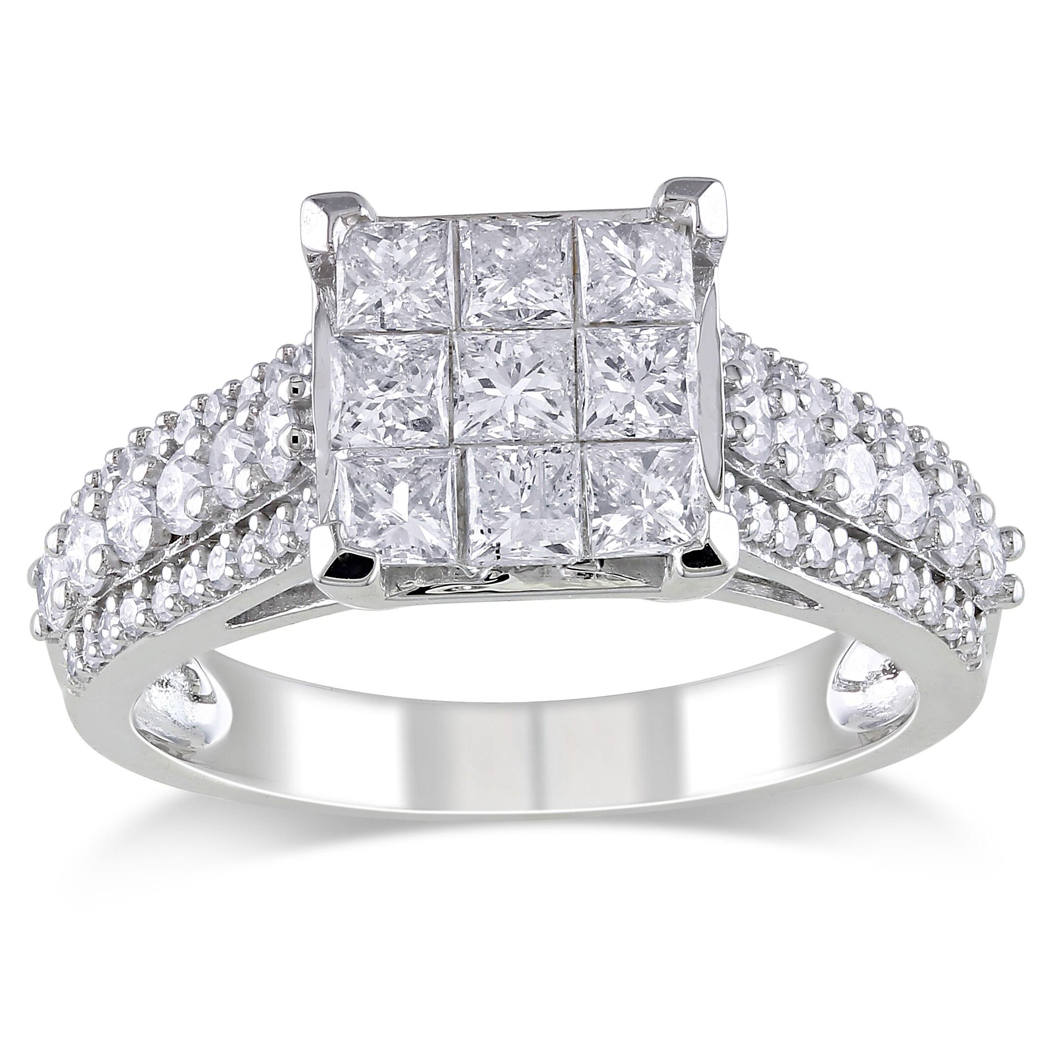 10k White Gold 1 4ct Tdw Diamond Engagement Ring H I I2