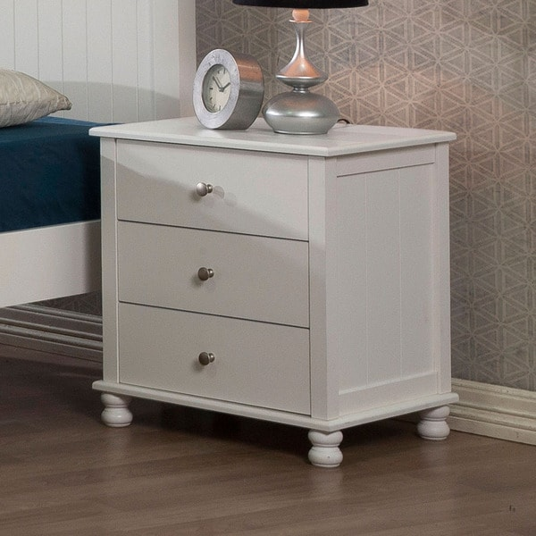 Anderson White 3-drawer Nightstand