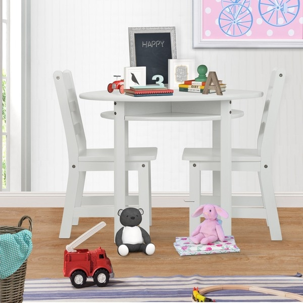 Childrens Round Table And Chair Set 14736927 Overstock
