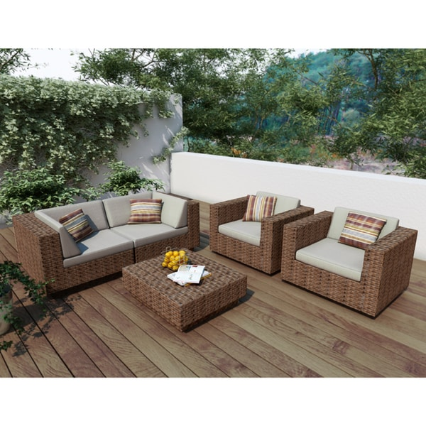 Sonax Park Terrace 5 Piece Sectional Patio Set Overstock