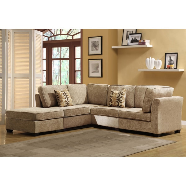 Tribecca Home Barnsley Collection Brown Beige Chenille 5