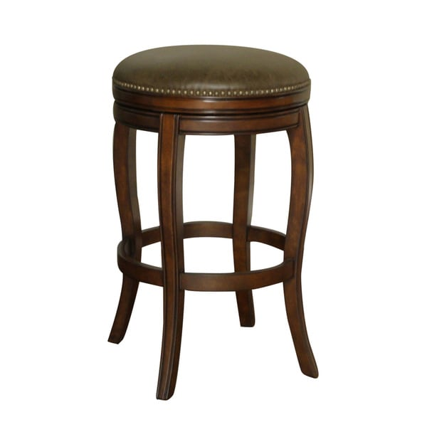 wenden tall 34 inch brown leather swivel bar stool 14756254 shopping great. Black Bedroom Furniture Sets. Home Design Ideas