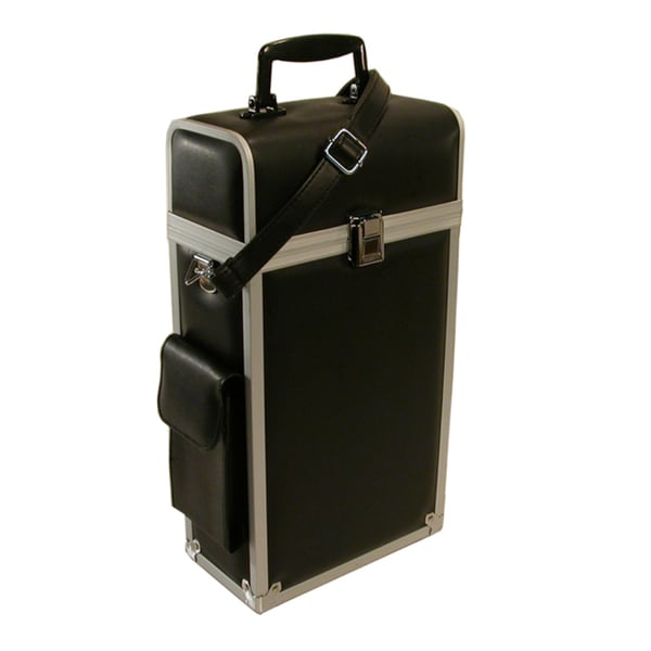 Travel Rite Leather Look Black With Aluminum Trim Double