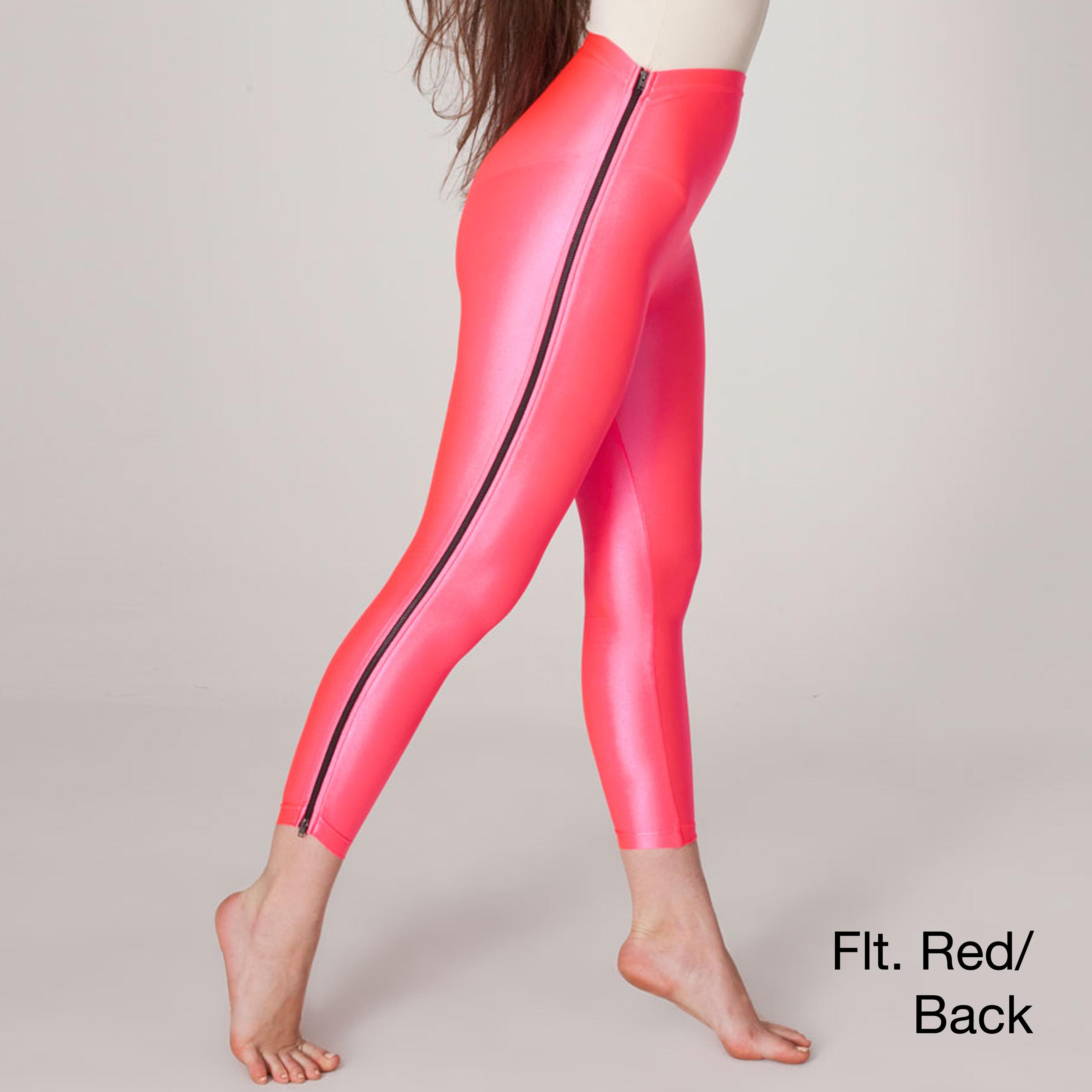 57d690c64501e9 American Apparel Womens Nylon Tricot High waist Zipper Legging on ...