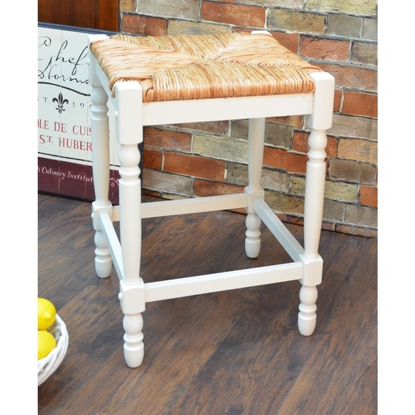 24 Inch Antique White Morgan Counter Stool 14768093