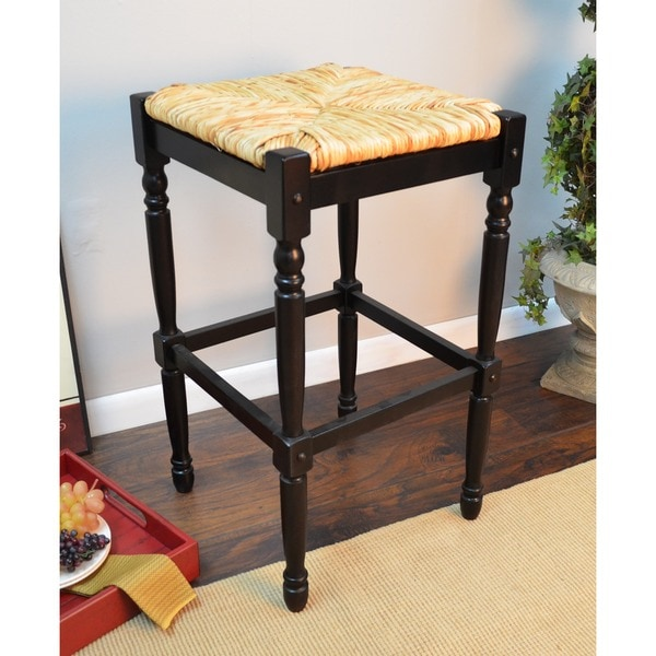 Antique Black 30 Inch Bar Stool 14768154 Overstock Com Shopping Great Deals On