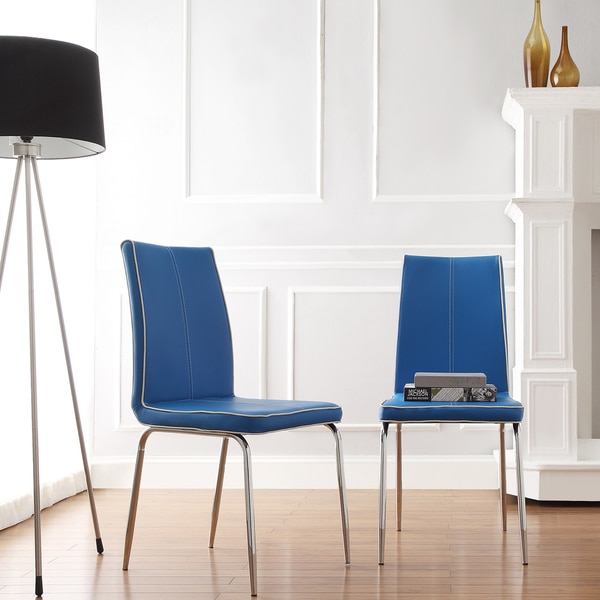 Mid Century Living Matilda Blue Retro Modern Dining Chair