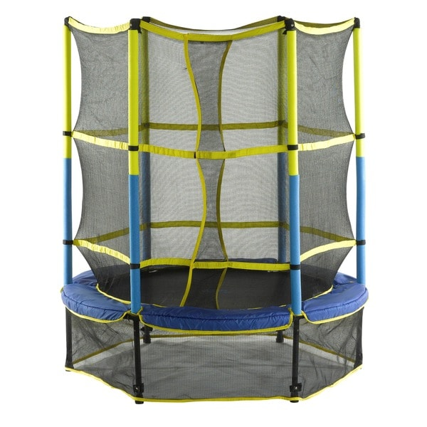 Upper Bounce 55-inch Kid-Friendly Trampoline & Enclosure