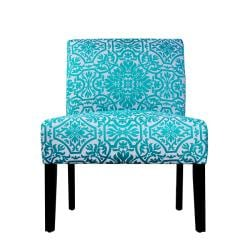 Niles Turquoise And White Vista Arm Chair 13360698