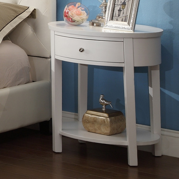 Inspire Q Fillmore White Oval Wood Accent Table 14776297 Overstock Com Shopping