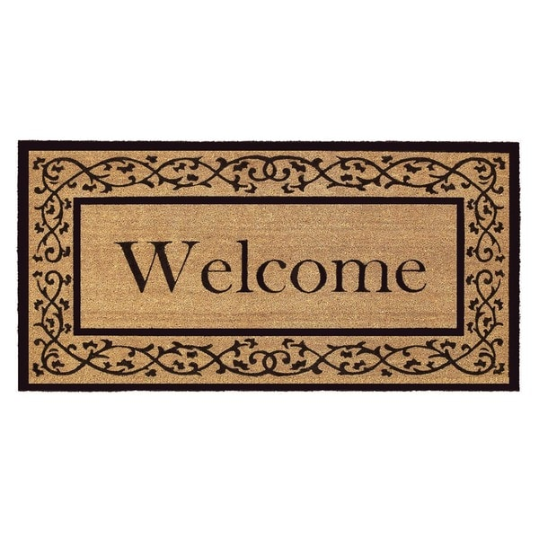Coir With Vinyl Backing 36x72 Inch Welcome Door Mat