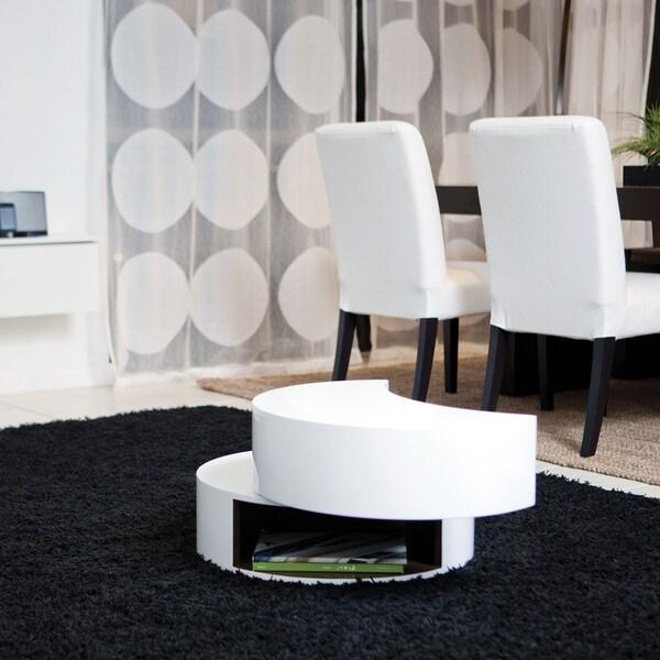 Aurelle Home Amanda Glass Top Rectangle Coffee Table: Functional Multi Shape Coffee Table