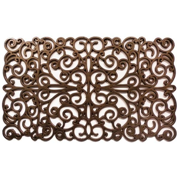 Fine Prestige Natural Rubber Bronze Finish Door Mat 18 X 30 Door Handles Collection Olytizonderlifede
