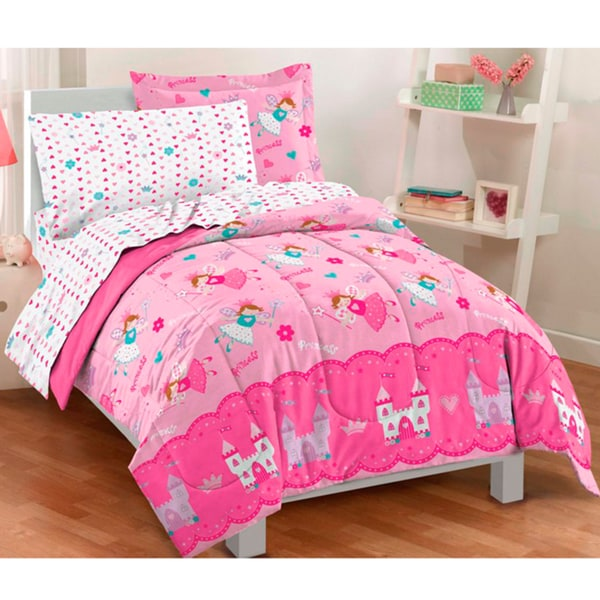 magical princess twin size 5 piece bed in a bag with sheet set 14785405. Black Bedroom Furniture Sets. Home Design Ideas